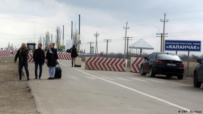 На контрольно-пропускном пункте Каланчак