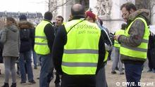Paris - Gelbwestproteste am Champs Elysees