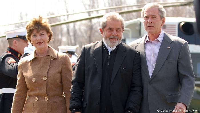 George W. Bush em Lula em 2007