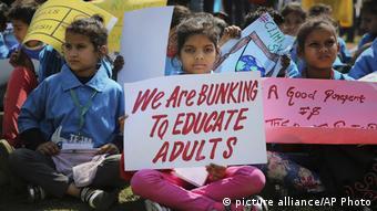 Indien Schüler protestieren für Klima