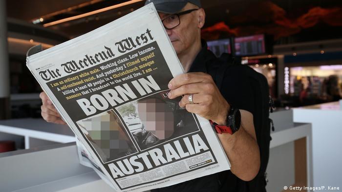 Australien Pressestimmen Christchurch Terroranschlag (Getty Images/P. Kane)