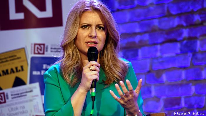 Slowakei Zuzana Caputova Präsidentschaftskandidaten