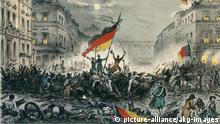 Kreidelithographie Revolution 1848 in Berlin