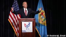 USA Joe Biden, ehemaliger Vize-Präsident in Dover, Delaware