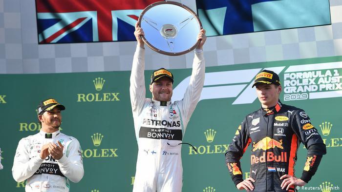 Australien Grand Prix Siegerehrung Bottas (Reuters/J. Smith)