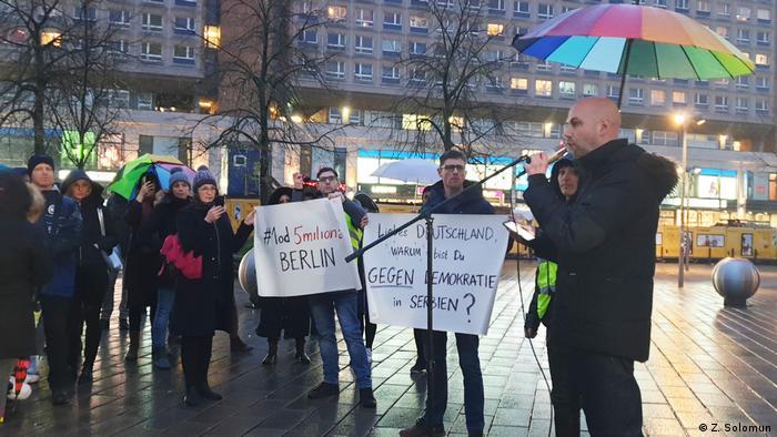 Proteste Serbien Berlin