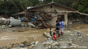 Floods damaged a house in Sentani, near Jayapura