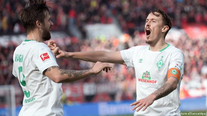 Max Kruse (right) is Bremen's key man