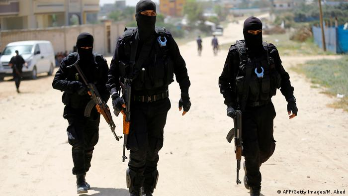 Hamas security forces in Gaza City (AFP/Getty Images/M. Abed)
