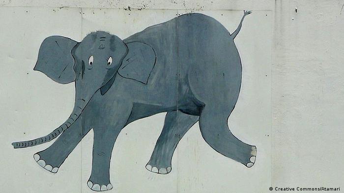 Tuffi the tumbling elephant (Creative Commons/Atamari )