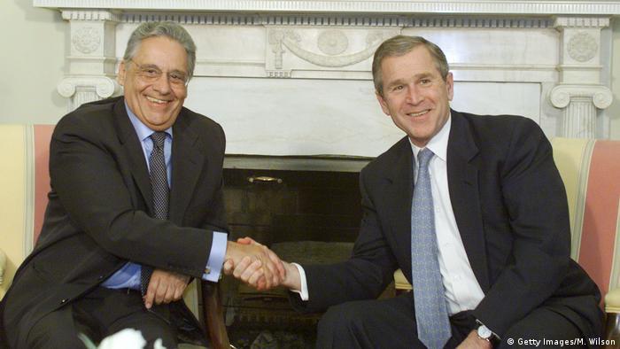 George W. Bush e Fernando Cardoso