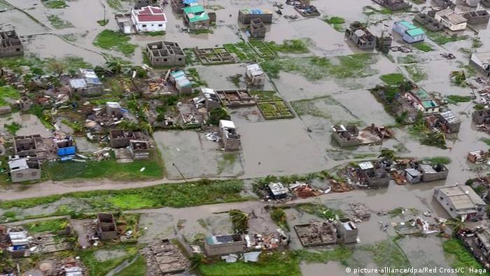Überschwemmung durch Zyklon IDAI in Mosambik