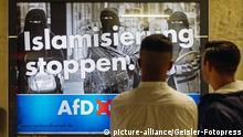 Deutschland AfD-Plakat in Köln