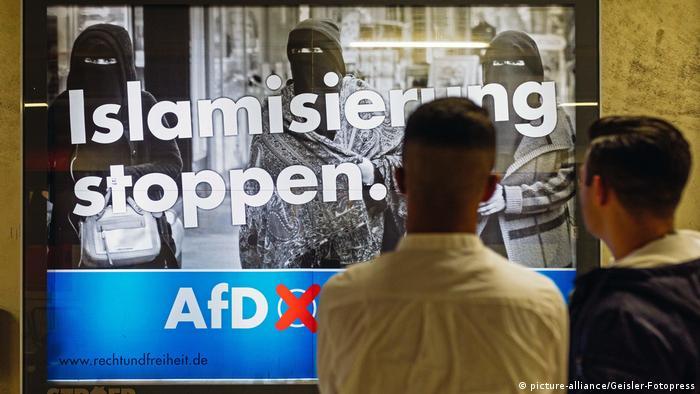 Зупинити ісламізацію - агітплакат АдН у Кельні перед виборами 2017-го