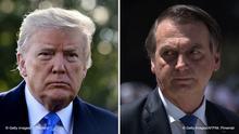 Bildkombo: Donald Trump und Jair Bolsonaro