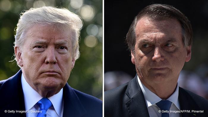 Foto de Donald Trump y Jair Bolsonaro.
