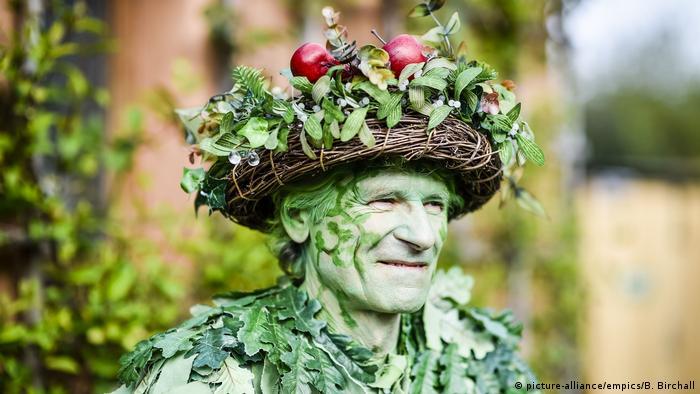 Green Man Beltane festivities (picture-alliance/empics/B. Birchall)