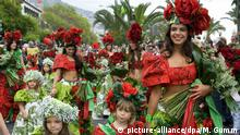 Großer Blumenumzug, Blumenfest im April in Funchal, Madeira, Portugal, Europa | Verwendung weltweit, Keine Weitergabe an Wiederverkäufer.