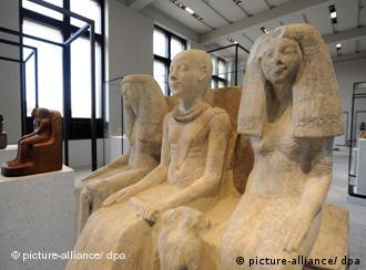 Exhibit from the Egyptian Collection in the Neues Museum in Berlin