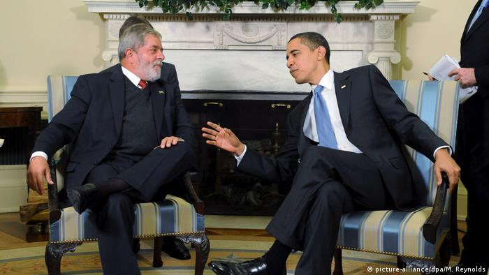 USA Treffen Barack Obama und Luiz Inacio Lula da Silva in Washington (picture-alliance/dpa/M. Reynolds)