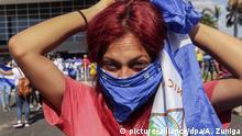 Proteste in Nicaragua Demonstrantin