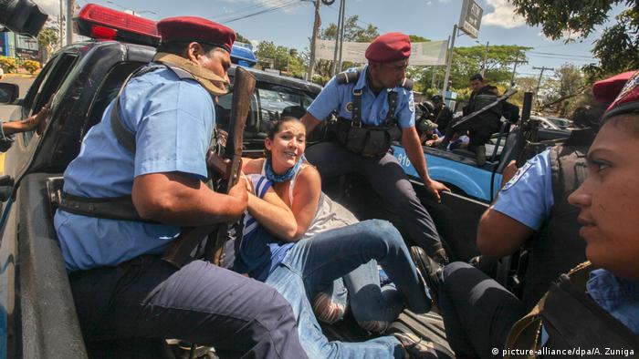 Detenciones durante protestas contra el gobierno de Daniel Ortega en Nicaragua, en marzo de 2019.