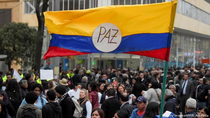 Kolumbien Friedensdemo in Bogota