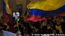 Kolumbien Friedensdemo in Bogota (Getty Images/AFP/R. Arboleda)