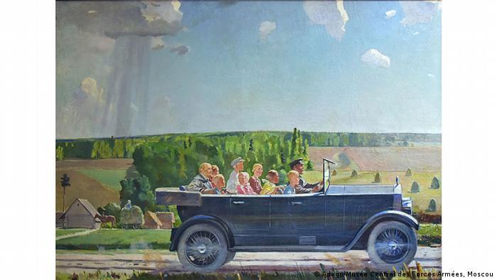 Das Gemälde Lenins Ausflug mit Kindern von Alexander Deineka, zu sehen in der Ausstellung Red. Art and utopia in the land of Soviets im Grand Palais in Paris. (Adagp/Musée Central des Forces Armées, Moscou)