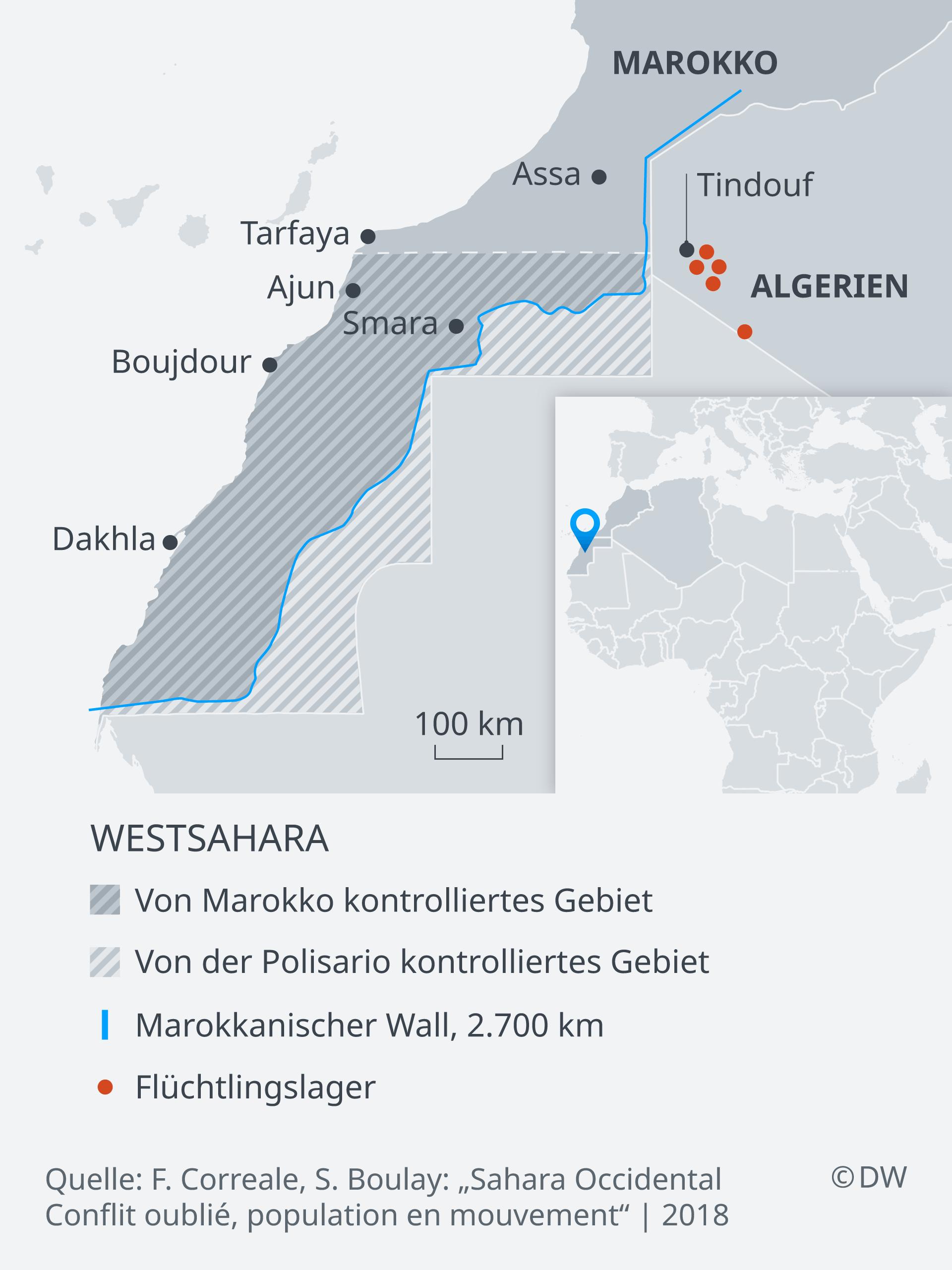 Karte Westsahara DE