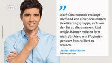 Zitattafel Jaafar Abdul-Karim Christchurch