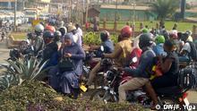 Uganda Motorradtaxis in Kampala