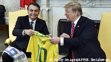 USA Washington - President Trump trifft auf Jair Bolsonaro (Getty Images/AFP/B. Smialowski)