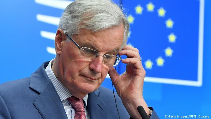 Belgien Brüssel - EU Verhandlungsleiter Michel Barnier bei Pressekonferenz (Getty Images/AFP/E. Dunand)
