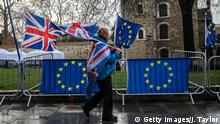 Großbritannien London - Brexit Gegner Protestieren (Getty Images/J. Taylor)