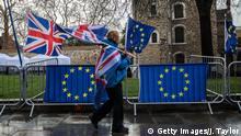 Großbritannien London - Brexit Gegner Protestieren