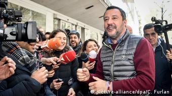 Italian Interior Minister Matteo Salvini (picture-alliance/dpa/C. Furlan)