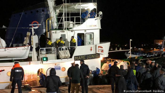 The rescue ship Mare Jonio