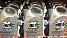 Roundup products are seen for sale at a hardware store in San Rafael, California, on July, 9, 2018. - A lawyer for a California groundskeeper dying of cancer took aim at Monsanto on July 9, 2019 as a jury began hearing the lawsuit accusing the chemical giant of ignoring health risks of its top-selling weed killer Roundup. (Photo by JOSH EDELSON / AFP) (Photo credit should read JOSH EDELSON/AFP/Getty Images)