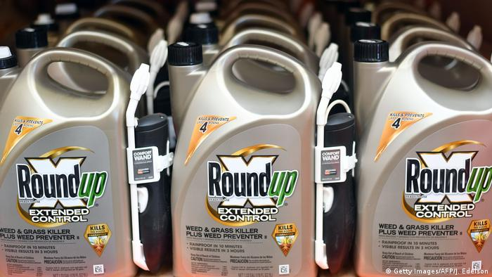 Containers of Monsanto RoundUp