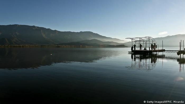 Chile Lagune Aculeo vollständig ausgetrocknet