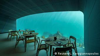 Unterwasser-Restaurant Under in Baaly, Norwegen