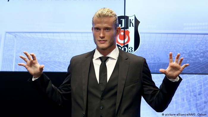 Loris Karius is unveiled as Besiktas' new goalkeeper
