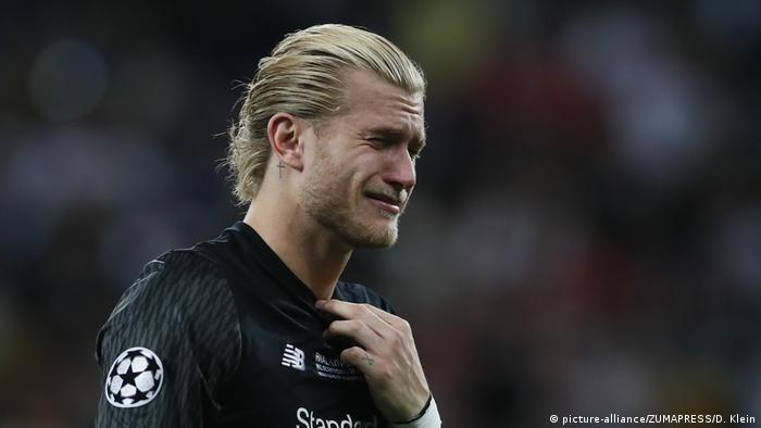 Lorius Karius in tears after his mistakes cost Liverpool the Champions League trophy against Real Madrid