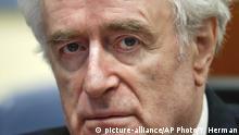 Archivbild: Radovan Karadzic beim UN Gericht