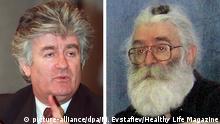 Bildkombo Radovan Karadzic und Dragan Dabic