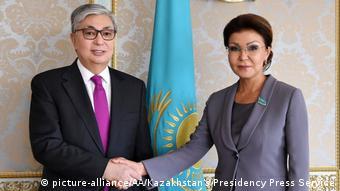 Мать Айсултана Назарбаева Дарига Назарбаева и действующий президент Казахстана Касым-Жомарт Токаев