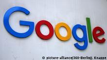 Google-Logo, Google Europa Zentrale, Docklands, Dublin, Irland. | Verwendung weltweit