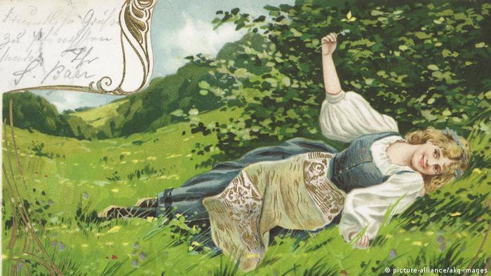 Весеннее настроение, - так написано на обороте этой почтовой открытки 1903 года