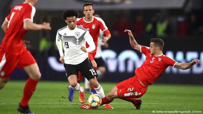 Fußball Freundschaftsspiel Deutschland - Serbien